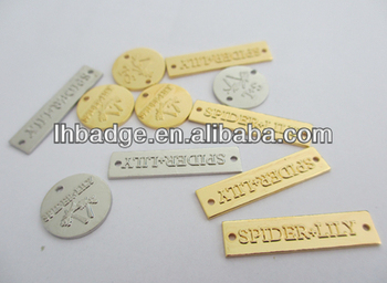 custom gold or silver tag for bags