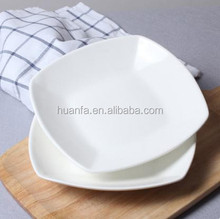 Wholesale hotel tableware Square Pure White 9 -inch Salad Plate /square dining plates