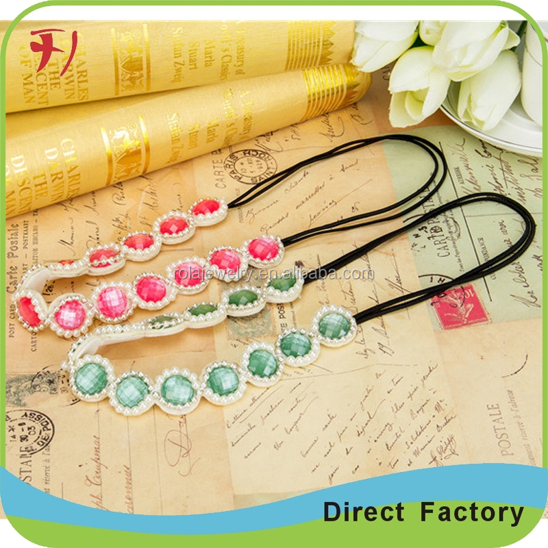 New Wholesale Fashion Square Shape Seed Beads Elastic Hair Band Design