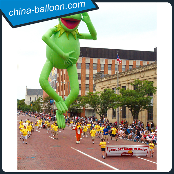 Advertising and giant inflatable cartoon model/ green frog model for show and promotion
