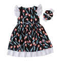 wholesale children's boutique clothing holiday kid dress baby girl clothes