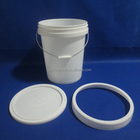 25L printed PP Plastic bucket for coating, latex paint, or other chemical products