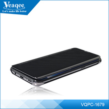 Veaqee Wholesale Ultraslim leather Smart Vies Flip Mirror Phone Case for Galaxy 8 Sleep Wake Up