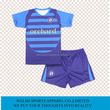 Wholesale Customized Sportswear Sublimation Printing Short Sleeve Dry Fit Soccer Uniform
