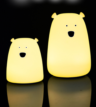 Portable Touch Sensor Rechargeable Cute Bear Silicone Led Night Light