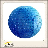 Festival 12'' Deep Blue Paper Lantern Value Pack Party Accessory