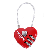 CH-28A Promotional cable heart shaped combination lock