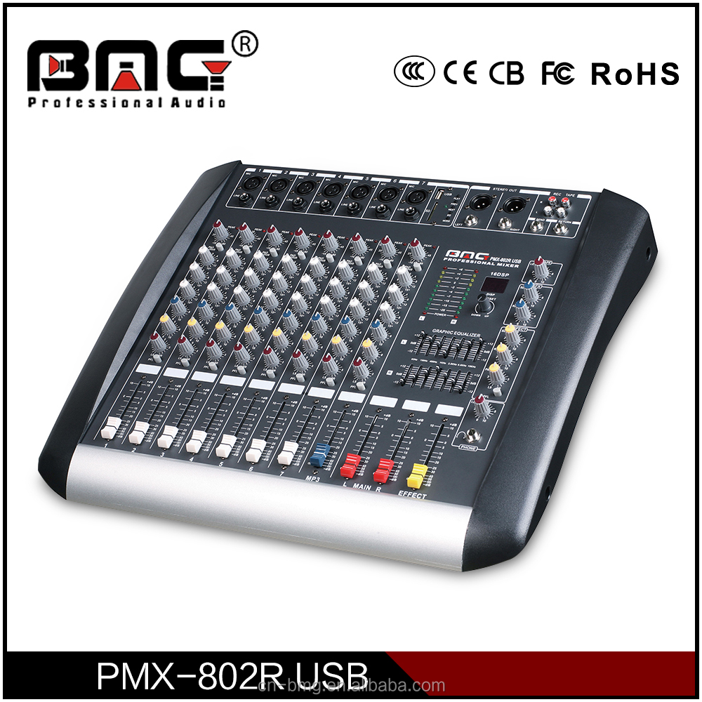 BMG the Best Professional 8 Channel Digital Echo Karaoke Mixer/ karaoke mini mixer
