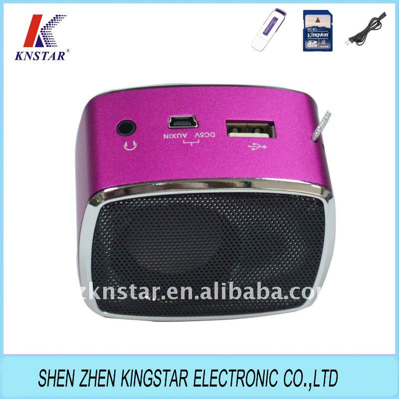 SN-302 rechargeable mini speaker with fm radio