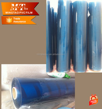 Sexy blue Transparent PVC Plastic Super clear film for Plastic produce and bag