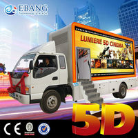 6 DOF Electric system truck mobile 5d cinema
