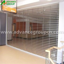 Perforated Grill rolling door with motor