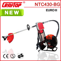 43CC 2-stroke Gasoline powered backpack grass trimmer with CE EUROII