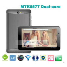dual sim 2013 7inch tablet pc 3g sim card slot built-in 3g phone calling bluetooth mtk6577 android4.2 mini laptop