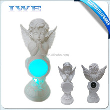 Angel shape music wireless bluetooth speaker with led color night light