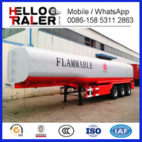 Tri-axle 45000 liters fuel semi trailer with HOWO truck head