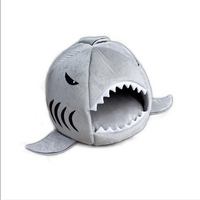 New Cute Cozy Soft Warm Shark Pet House For Puppy