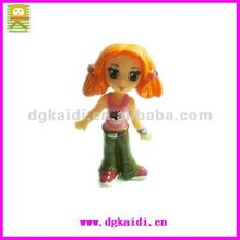fashion sexy cartoon girl plastic action figurines toy