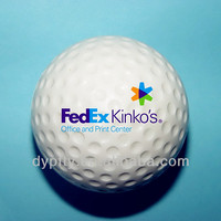 63mm pu stress golf balls with custom logo printed