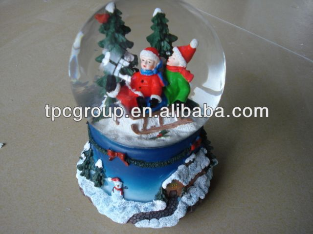 2013 hot sell Porcelain and glass snow ball