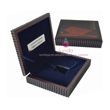 blue velvet inside grey large gift collectors wood coin boxes
