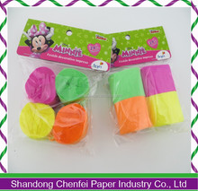 Party throwing colorful paper streamer crepe paper streamer
