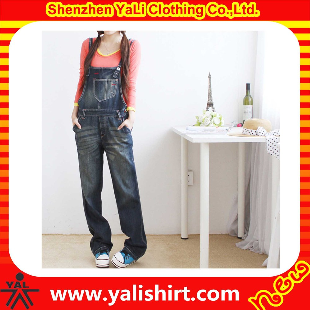 wholesale lovely loose fit custom made denim new style fashion women overalls