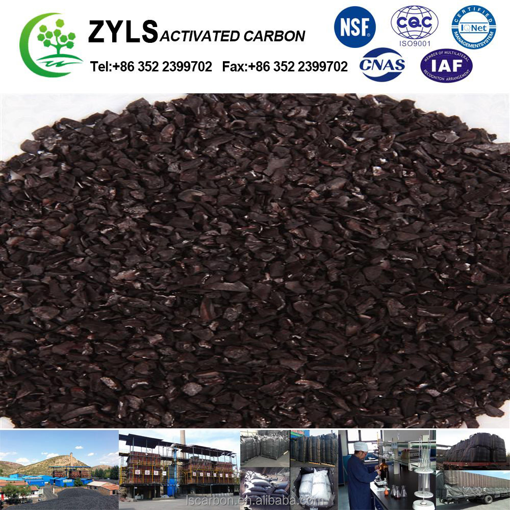 12X40 Mesh Pssing rate > 90% granular activated carbon