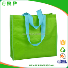 Eco reusable grocery shopping bag handled eco bag foldable green bag