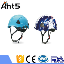 EN397 rescure use ABS safety helmet with chin strap customized logo with great price