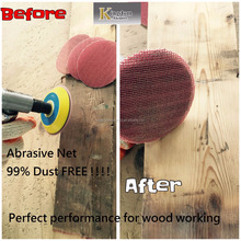 "Taiwan made Abrasive net 6"" velcro Abrasive sanding discs for wood polishing"