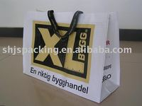 paper shopping bag with ribbon hande