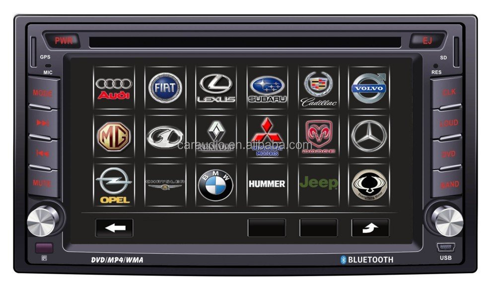 universal double din car dvd player