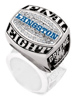 Fashion rings custom design hockey championship ring brass jewelry