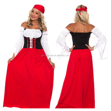 Sexy Halloween Role Cosplay France Beer Maid Wench Costume