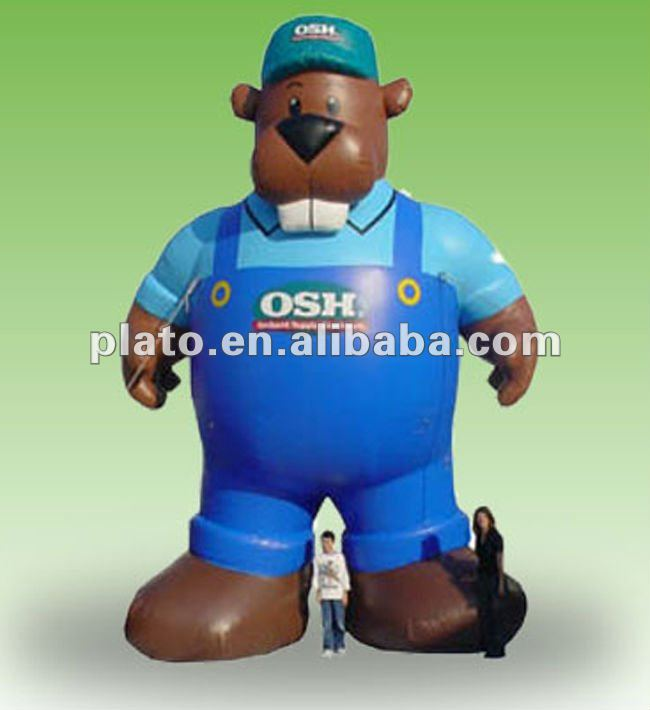 Inflatable Osh Beaver for advertising