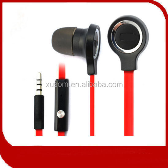 4.0mm flat cable Stereo handsfree wholesale earphone&earbud shantou factory