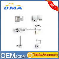 6 Piece Hotel Style Wall Mounted Stainless Steel Bathroom Accessories Set