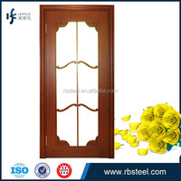 wood door both in toilet and room with modern design and good quality HC-003