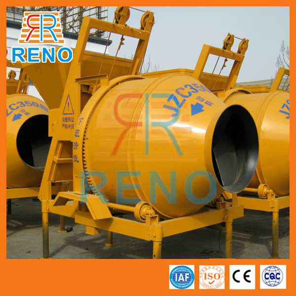 China supplier JZC500 electric stone mortar mixer parts with hopper