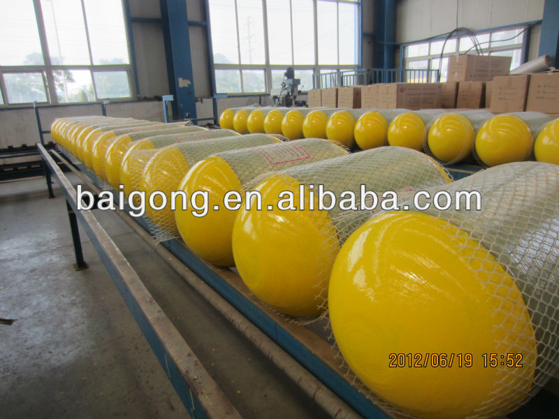 CNG car cylinders/CNG tanks, glass fiber,406MM A58