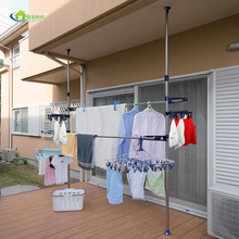 JIAYOU Home Organization OEM Large Tension Ceiling Mounted Clothes Drying Rack