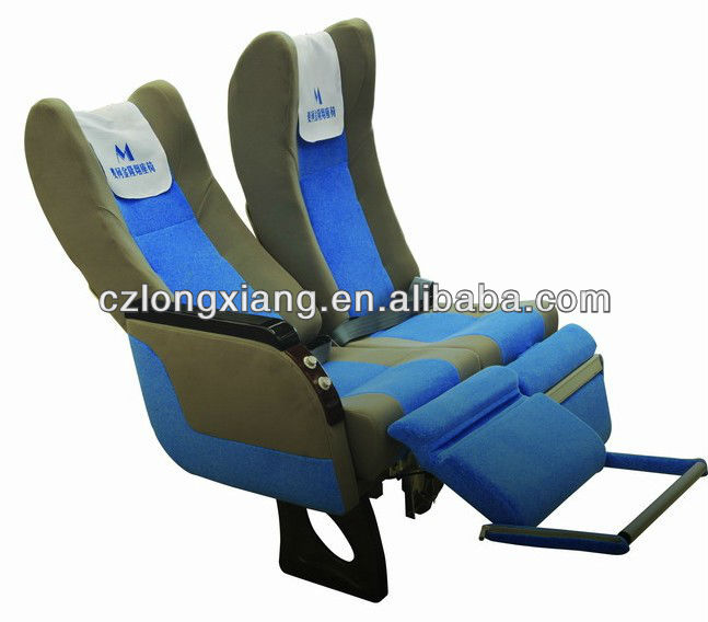 VIP luxury leather bus seat with leg rest