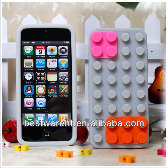 NEW colorful lattice shape cover for iphone5 5C 5S