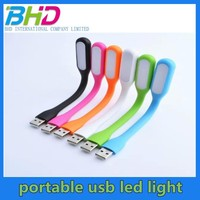 Desk flexible USB led light with micro usb cable led light Multi Color