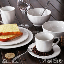 2015 newest products/embossed tableware /porcelain chinaware
