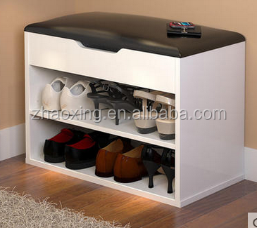 16mm PB home center faced melamine shoe cabinet with seat picture