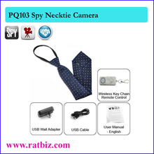 Body Worn Hidden Camera Mini spy tie up to 32GB Cam Camera Video usb DVR Recording Hidden SpyCam Necktie Hidden Camera PQ103