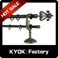 KYOK double curtain rod bracket ,28mm&19mm metal curtain rod bracket,wall mount bracket for curtain rod