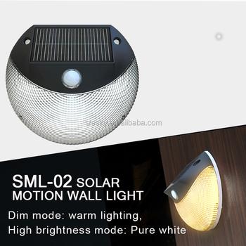 Modern Pir Motion Sensor Solar Led Wall Light Garden Lights